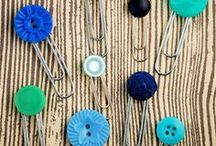 Trends - Buttons / Trending:  Everything old is new again!  Buttons used in our art, crafts, decor and more!
