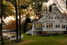 Cottages / Beach houses, cottages, lake houses, cottage interiors, cottage decor, cottage kitchens  / by Becky Scott