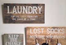 Laundry Room decor and inspiration / Inspiration and decor Ideas for a fun, beautiful and functional laundry room!