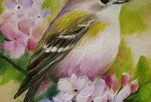 maalattuja lintuja