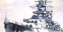 Scharnhorst Class Battleships / The battleships Scharnhorst and Gneisenau before and during WWII