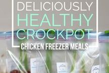 Freezer cooking / Ideas for batch cooking make-ahead meals and freezing for later.  Time-saving, money-saving meal prep.