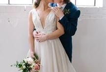 organic spring wedding inspiration || sage & thistle events / Organic & Modern Spring Wedding Inspiration.