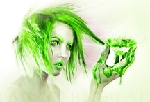 Green hair is my favorite / by Danial Hanson Small
