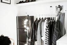 Closet space organization / Beautiful wardrobes and neatly organized shoes