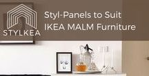 Styl-Panels for IKEA MALM Furniture / Customise IKEA's best-selling MALM bedroom storage range with our rigid peel-and-stick Styl-Panels. What's your style? Hamptons? Hollywood glam? Classic? We've got you covered! Our luxe Styl-Panels come in paintable white or in mirrored gold or silver for the luxury-look furniture you've always wanted. Perfect for furniture renovation, DIY decor, DIY decorating and more.