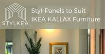 Styl-Panels for IKEA Kallax Furniture / Styl-Panels to customise IKEA BESTA furniture. Be inspired by our rigid 3mm thick, luxe peel-and-stick overlays that come in paintable white, as well as mirrored silver and gold. Perfect for IKEA hacks, furniture customisation, DIY projects, DIY home decor and more.