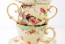 Vintage Tea Party / Pretty mismatched china tea cups, loose leaf tea, a delicious cake or two, chintzy floral decorations and a few dear friends for company make the perfect afternoon tea party.