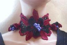 crochet & knit flowers