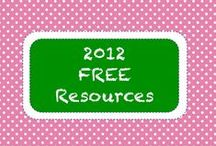 | 2012 • Free Resources | / Free Teachers Pay Teachers resources featured in the TpT Newsletter in 2012.