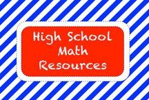 M A T H • H S / High School Math Resources / by TeachersPayTeachers