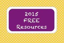 | 2015 • Free Resources | / Here are FREE teacher-created items selected for Teachers Pay Teacher's 10 FREE Downloads Newsletter.