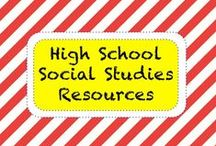 S O C I A L • S T U D I E S • H S / High School Social Studies Resources / by TeachersPayTeachers