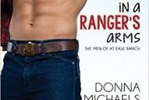 Book: In A Ranger's Arms / Former Army Ranger Stone Mitchum's libido is MIA. Since starting a company with his brother and two buddies, he's had more important things on his mind than sex. Like transitioning veterans. But when his curvy new tenant falls into his arms—literally—his libido snaps to attention.