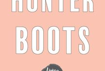 How to // Wear Hunter Boots / Outfit Inspiration / Wear Hunter Boots / OOTD