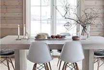 MAISON DE RÊVE / un mélange de beaucoup de lumière naturelle, de blanc, de bois et de couleurs pastels. de la douceur et du calme.