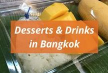 Desserts & Drinks in Bangkok / There's always room for desserts :)