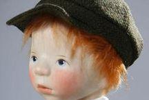 ELISABETH  PONGRATZ  DOLLS / Beautiful wooden dolls by doll artist Elisabeth Pongratz