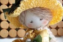 MINNE  CLOTH  DOLLS / Most cute little cloth dolls by Minne