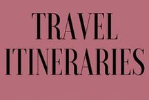 Travel Itineraries / Travel itineraries to help you plan trips to the destinations in your bucketlist.