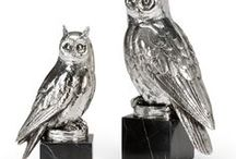 Owls Lamps and Decor / Whooo likes owls in their house? You'll like these owl lamps, bookends and art.