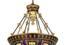 Fleur-de-Lis Lamps and Decor / Lovely fleur-de-lis designs incorporated into lighting, lamps, and home decor items.
