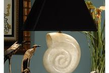 Seashells Lamps and Decor / Seashells incorporated into home decor and lamps.