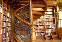 Bookshelves, Book Stores and Libraries / Beautiful and intriguing ways to shelve books and places to explore books. / by Trish Saylor