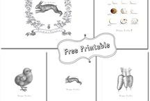 Pâques impressions gratuites / Easter Printable