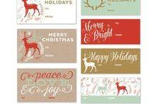 Noël étiquettes / Christmas tags
