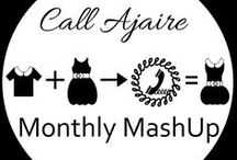Call Ajaire Monthly MashUps / Inspiration for MashUps. Combine two or more sewing patterns to create a fresh new look. Please visit Call Ajaire for more information or to be added to the list of Pinners.