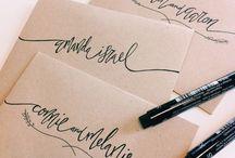 minimalistic symbols & calligraphy