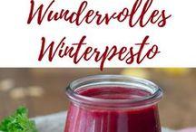 Winterpesto Rezepte / köstliches Pesto für Pasta