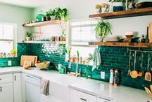 Kitchen / Pretty tile patterns, gorgeous benches and timeless styles, the kitchen has to be one of my favourite rooms to decorate.