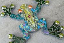 """Simple and Beautiful Mosaics / Mosaic Projects that might be done by the """"non""""-artist."""
