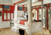 Carl Larsson / Swedish painter and interior designer,representative of the Arts and Crafts Movement . His many paintings include oils,watercolors and frescoes.