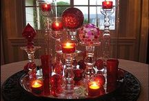 Crazy About Red Glassware / Glass / Ruby Red / Avon Cape Cod........ / My love for RED requires red glassware, too. I have many pieces of Avon Cape Cod (need to inventory) and I pick up pieces to add when I can. I am always on the lookout for beautiful pieces of red. This board is a keeping spot for lovelies I own or would die to own.......