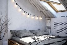 Home: Loft / Design inspiration for a loft bedroom.