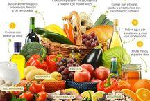 Dieta mediterranea // Mediterranean diet / Esempi di menù pasti che seguono la dieta mediterranea.