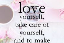 Love yourself  / Self love, self-care, happiness, confidence, healing, inner beauty