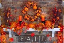 Pumkins, Gourds & Scarecrows.....Oh My! / Fall/Autumn is my absolute favorite time of the year to decorate my house, inside and out.   / by LaDonna Bangeman