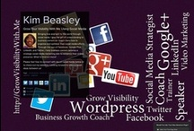 Grow Business Visibility Using Social Media / Social Media tips to teach you how to organize, and optimize your social media efforts using Facebook, Google Plus, Linkedin, and Twitter. Helping you to grow your online business visibility with social media!  / by Kim Beasley