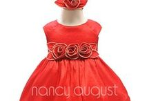 Red Baby Dresses / by Nancy August