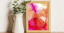 Modern Abstract Artwork and Art Prints by Chantal Claire / Abstract art and art prints, created by Chantal Claire.   A great touch for your home decor!  Alcohol ink, acrylic and mixed mediums.  Available in a variety of sizes.