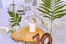 byManda / Rustic wedding, rustic decorations, bride and groom, our work.