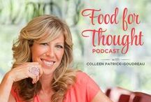 "Food for Thought Podcast / Vegetarian (it's vegan!) Food for Thought is a ""life-changing"" podcast that leaves listeners feeling supported, motivated, and inspired. Celebrating a way of life that encompasses compassion for everyone, this podcast addresses all every issue related to being vegan, including food, cooking, nutrition, animal rights, family dynamics, food politics, and social psychology – and debunks the myths surrounding these issues."