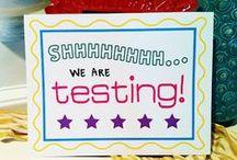 All Things Testing / Ideas to keep testing season fun, and keep student spirits up!