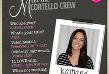 The Crew - Bio Cards / Meet the Cortello Crew through these Bio cards  / by Cortello Salon