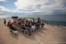 Bay Harbor Observation Platform surrounded by Lake Michigan in Northern Michigan Wedding Ceremony / Lake Michigan Wedding Ceremony at Bay Harbor Observation Platform surrounded by blue Lake water on an island over Lake Michigan in Petoskey, Northern Michigan area ~ Wedding, Event, Party, Celebration rental available #lakewedding #bayharbor #observationplatform #bayharborwedding #weddingvenue #nomiweddings #northernmichiganwedding #weddingsinbayharbor #weddingsinpetoskey #weddingphotography #destinationwedding #puremichigan #purenorthernmichigan / by Paul Retherford Photography, LLC | Northern Michigan Destination Wedding & Family Photographer