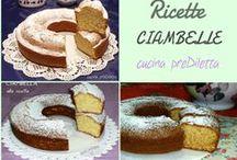 Ciambelline, ciambelle, ciambelloni, chiffon cake...
